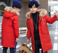 AAAAA+ Boys Down Coat Baby Winter Cold Area Parkas Male Overcoat Height 120 170 cm 7 Colors