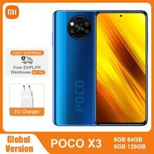Globale Version Xiaomi POCO X3 NFC 6GB 64GB / 128GB Smartphone Snapdragon 732G 64MP Quad Kamera 6.67