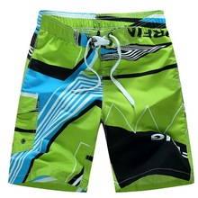 Мужские пляжные шорты, мужские Летние плавки, быстросохнущие, дышащие, свободные, с принтом, эластичные, повседневные, короткие, размера плю...