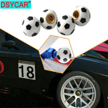 4pcs/lot Universal Football Design Car Wheel Tire Valve Caps, Bicycle valve caps, Motor wheel cap