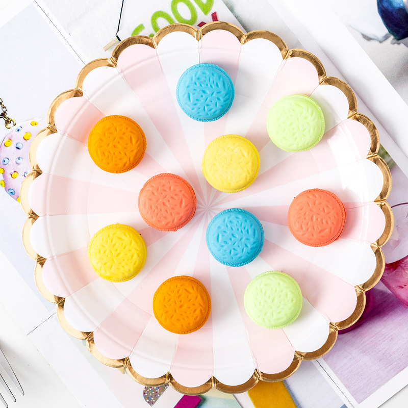 5 Pcs/pack Macaron Erasers Cute Candy Color Writing Drawing Rubber Pencil Eraser Stationery For Kids Gifts School Supplies