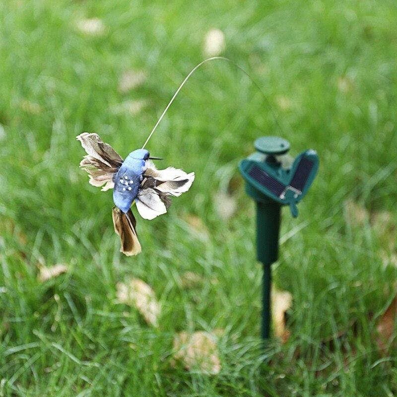 Solar Animal Decoration Cute Butterfly Hummingbird Decoration Electric Feather Bird Garden Decoration Jardineria Decoracion Decorative Stakes & Wind Spinners     - title=