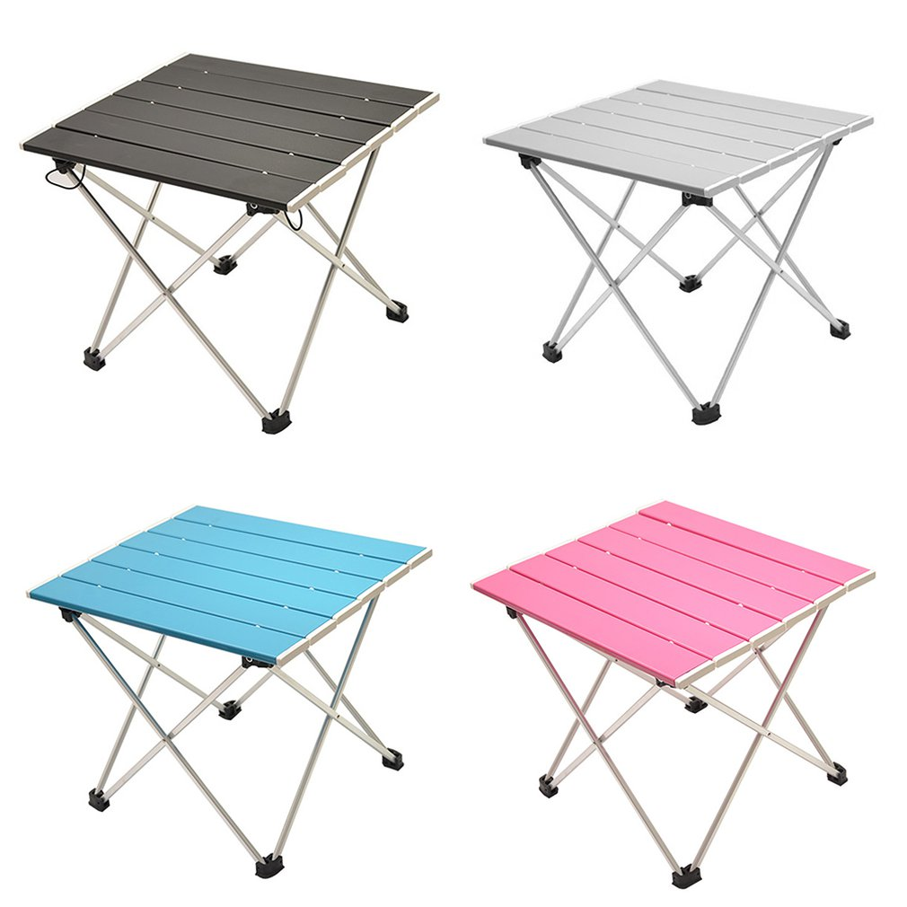 Portable Folding Aluminum Roll Up Table Lightweight Outdoor Camping Picnic Simple Furniture Camping Table Tea Table|  - title=