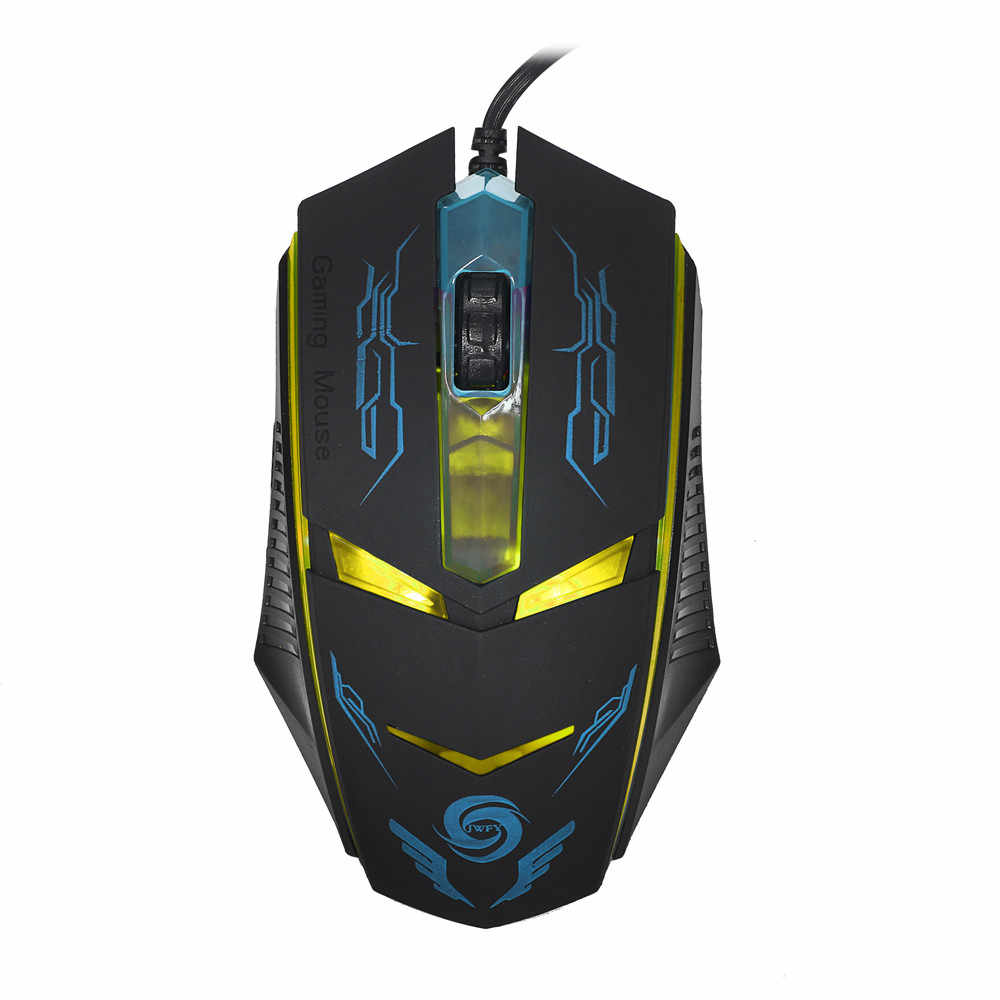 3200 DPI Optical USB Wired Gaming Mouse LED Colorful Backlight Mice For PC Laptop Black Mouse Myszka #LR1