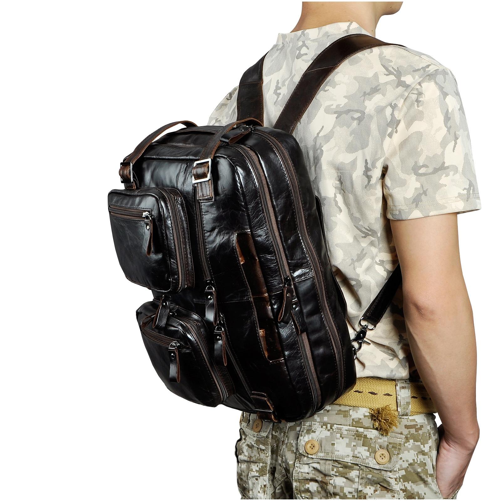 Véritable en cuir véritable mode mallette d'affaires Messenger sac mâle Design voyage ordinateur portable porte-documents fourre-tout portefeuille sac k1013c - 3