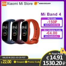在庫xiaomi miバンド4 smartband 3カラー画面心拍数miband 4フィットネスブレスレットbluetooth 5.0防水