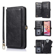 Чехол Кошелек с 9 отделениями для карт для iPhone 11 Pro Max XS X XR, кожаный флип чехол с магнитной застежкой для iPhone SE 2020 7 8 Plus 6 6s