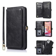 9 karte Halter Brieftasche Telefon Fall Für iPhone 11 Pro Max XS X XR Flip Leder Fall Für iPhone SE 2020 7 8 Plus 6 6s Magnetische Abdeckung