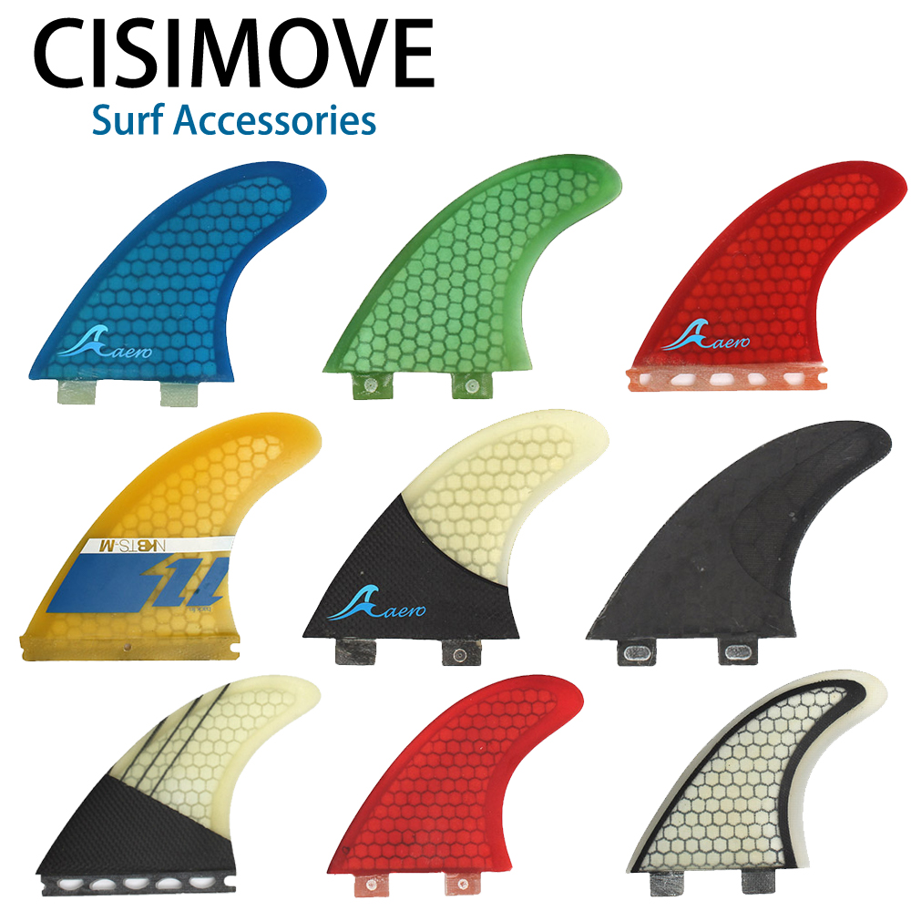 CISIMOVE Fiberglass FCS Future Keel Fin 3-pc Fin Surf Board Fin Sup Board Long Board