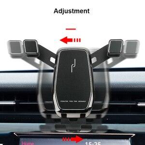 Image 3 - Für Toyota RAV4 Zubehör 2019 2020 RAV 4 Schwerkraft Auto Telefon Halter Gewidmet Air Vent Halterung Clip ständer Handy halter