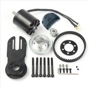 Image 1 - 83mm 90mm 97mm חשמל סקייטבורד 1800W מנוע 5M ציוד 270mm חגורות ערכת מנוע הר חלקי Riserpad