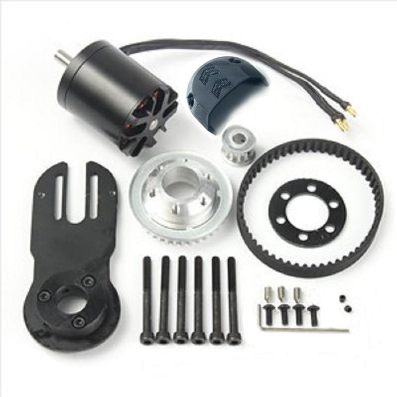 83mm 90mm 97mm Electrical Skateboard 1800W Motor 5M Gear 270mm Belts Kit And Motor Mount Parts Riserpad