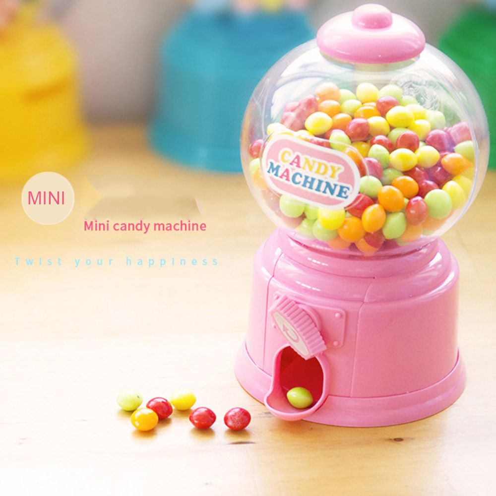 Mini Candy Machine Bubble Gum Ball Dispenser Coin Bank Kids Educations Toys Cute Sweets Save Money Games Birthday New Year Gifts