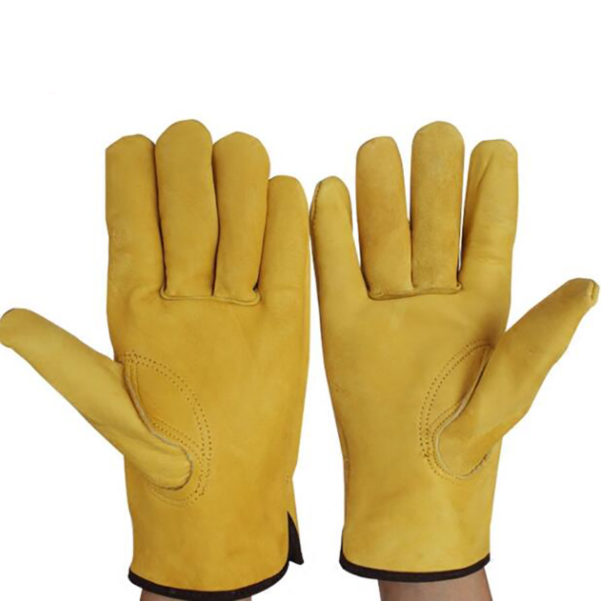 Leather Work Gloves Safety Work Glove Heat Resistant Soft Comfortable Cowhide Gloves For Welding Garden Labor Protection