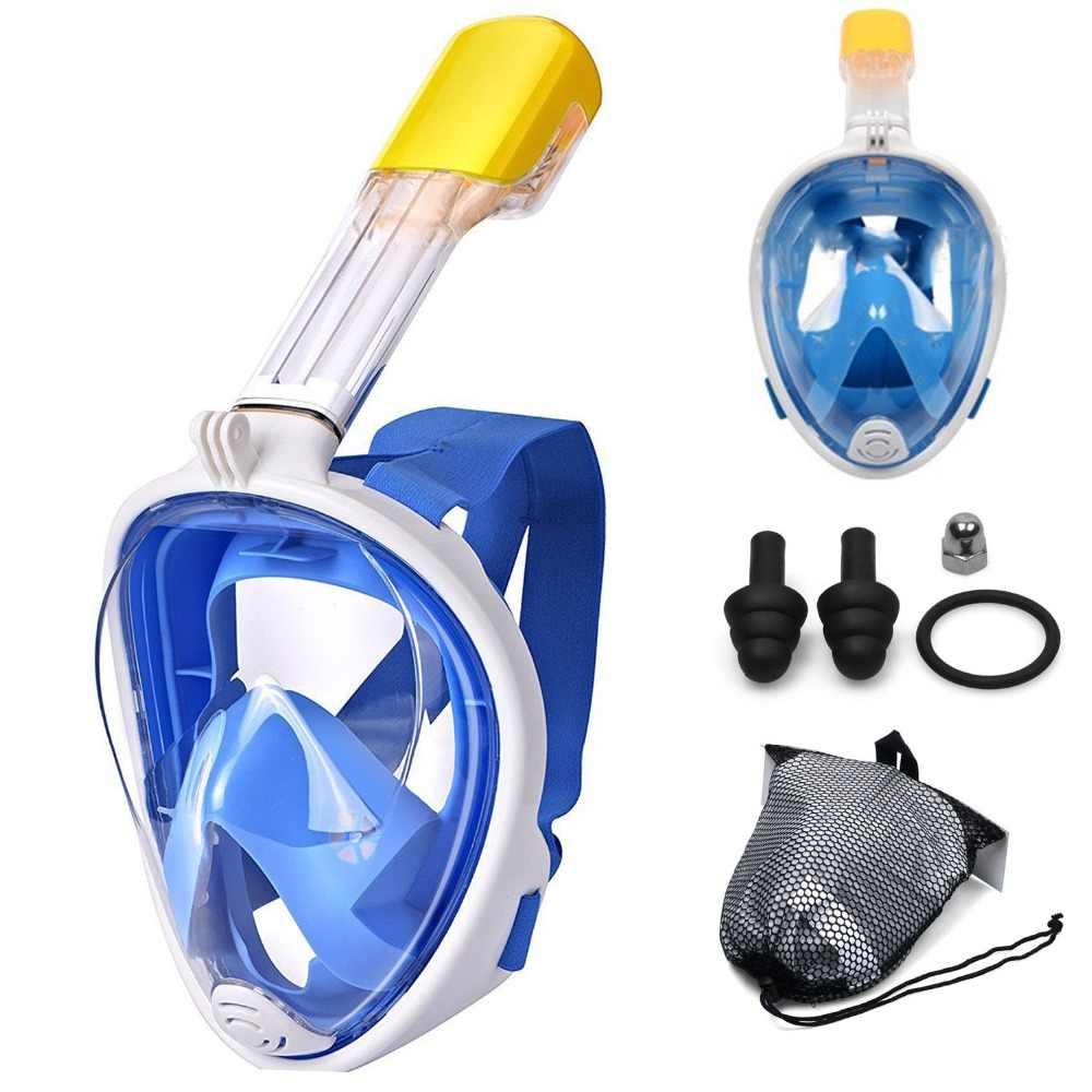 Onderwater Scuba Masker Anti Fog Volledige Gezicht Duikbril Snorkelen Set Veilig Waterdicht Snorkel Zwemmen Maskers Voor Kind Volwassen