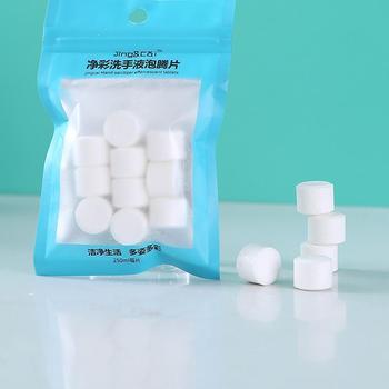 10 Pcs DIY Natural Foaming Hand Sanitizer Effervescent Tablets Hand Wash Foam Instant Antibacterial Disinfectant Tablets