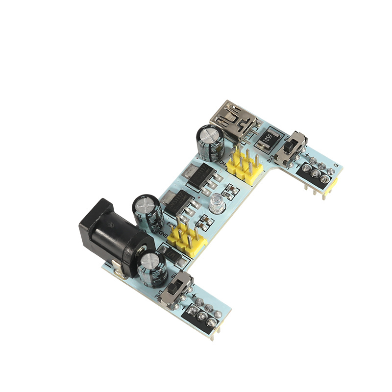 White Mb102 Breadboard Power Supply Module /mb102 Breadboard Dedicated Power Module 2-way 3.3v 5v Mb-102 Solderless Bread Board