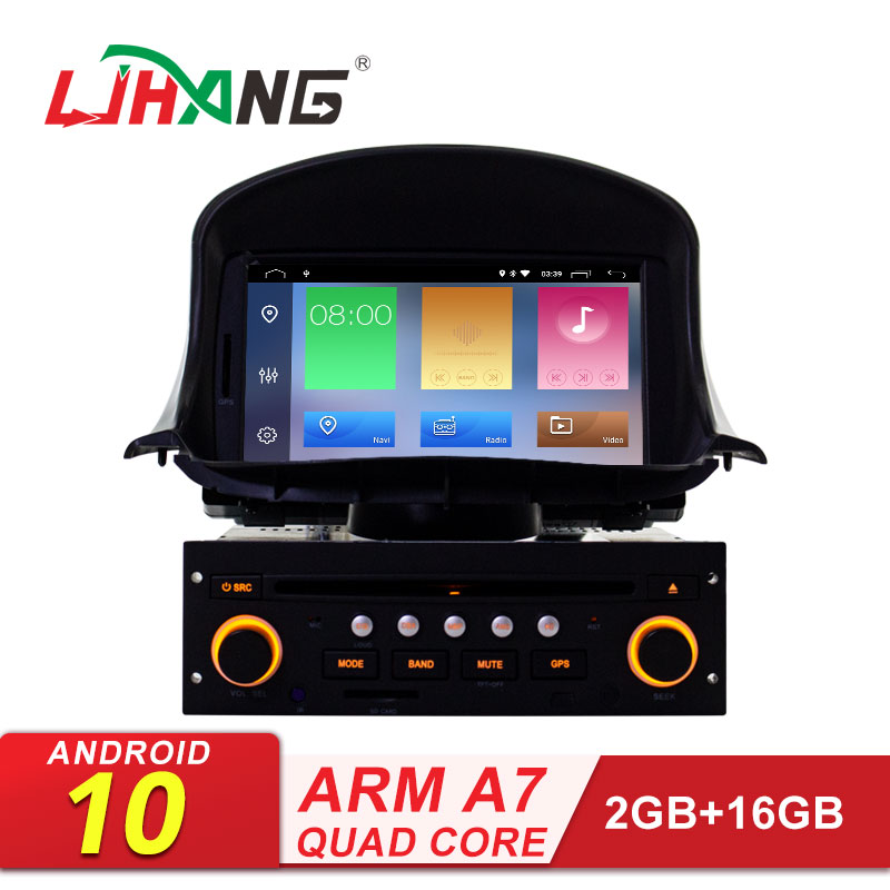 LJHANG Car DVD Multimedia Player Android 10 for <font><b>Peugeot</b></font> <font><b>206</b></font> 206cc GPS Navigation 1 Din Car Radio Stereo headunit RDS Auto audio image