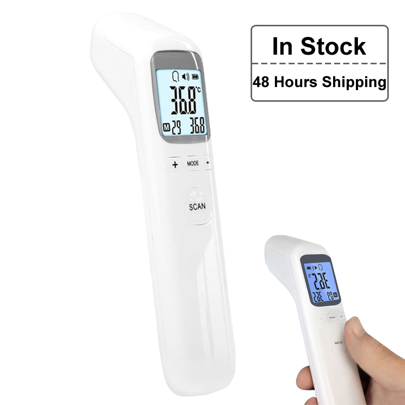 Canada Drop Shiping Infrared Thermometer Baby Digital LCD Forehead Infrared Thermometer Adult Surface Temperature Health Care