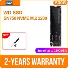 Western Digital WD siyah SSD SN750 250GB 500GB 1TB NVMe dahili oyun SSD Gen3 PCIe, m.2 2280, 3D NAND oyun PC dizüstü