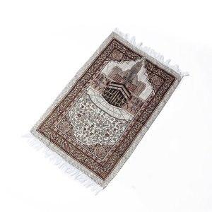 Image 3 - Толстый ковер с кисточками для дома и гостиной, мягкие коврики для поклонения, украшение, мусульманское Молитвенное одеяло, прямоугольный ковер в этническом стиле