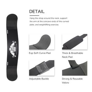 Image 5 - DMAR Weightlifting Arm Blaster Adjustable Aluminum Alloy Bomber Biceps Curl Triceps Board Muscle Exercise Fitness Gym Equipment