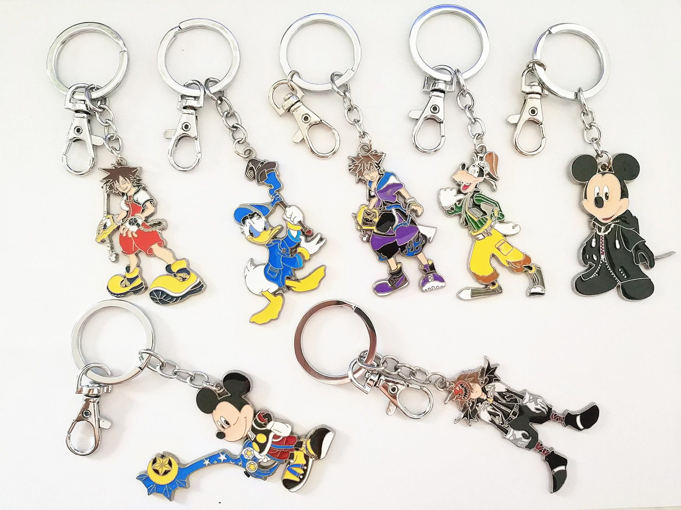 Game Kingdom Hearts Figure Mobile Chain Key Chains Keychain Necklace Metal Pendant Keyring Cosplay