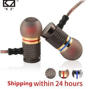 "Image 1 - KZ ED מהדורה מיוחדת זהב מצופה דיור אוזניות עם מיקרופון 3.5 מ""מ HD HiFi בצג אוזן אוזניות סטריאו בס טלפון"