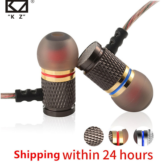 KZ ED Special Edition Gold Plated Housing Earphone with Microphone 3 5mm HD HiFi In Ear Monitor Bass Stereo Earbuds for Phone