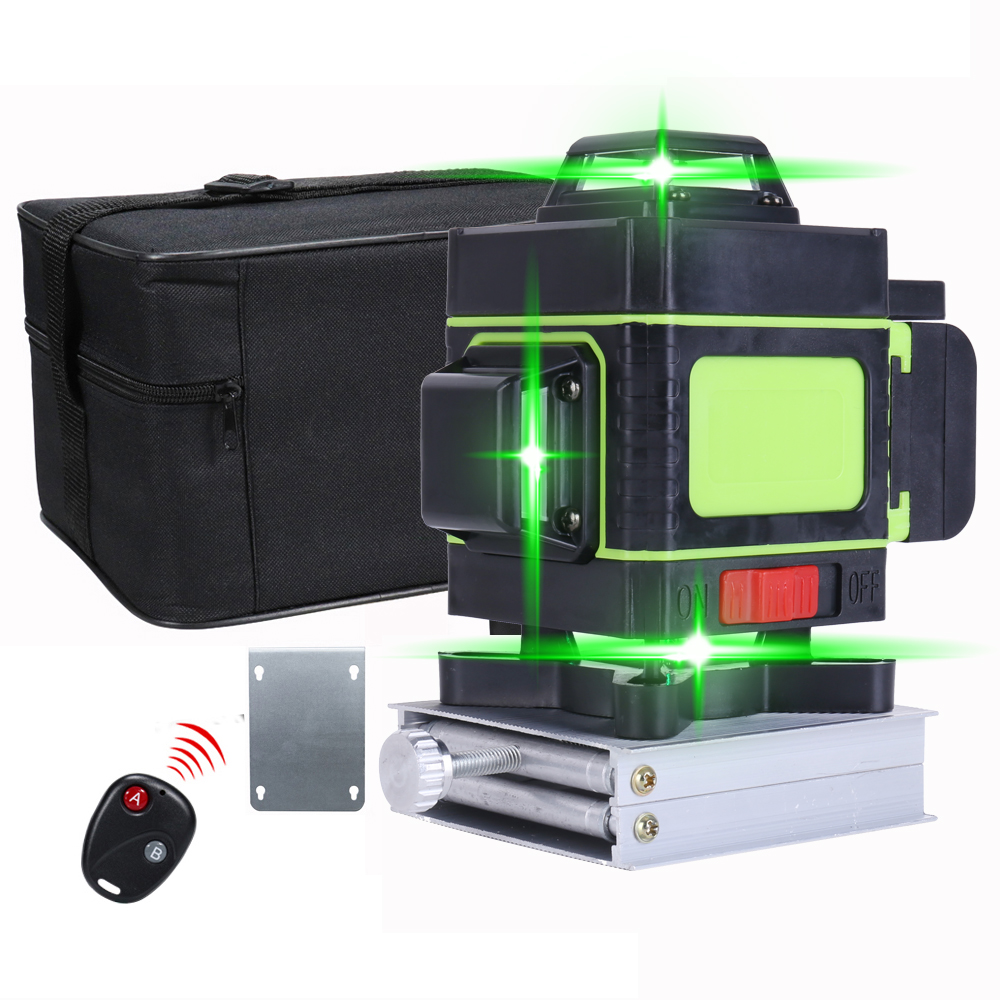 Rotary Laser 360 Green Self 16 Outdoors Lines 3d Leveling Level Indoors Laser Level 4d Level Visibility 12 Higher Laser Lines
