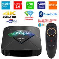 NEUE X10 PRO Android 9.0 Smart TV BOX Amlogic S905X2 Quad Core 4GB RAM 64GB ROM BT4.0 USB 3.0 2,4 g/5G Dual WIFI 3D 4K HDR Set Top