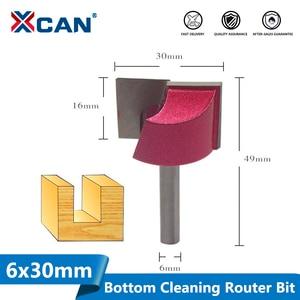 Image 1 - XCAN 1pc 30 millimetri Inferiore di Pulizia Incisione Bit 6 millimetri Gambo In Legno Punte del Router di CNC di Fresatura Cutter Lavorazione Del Legno Guarnizioni
