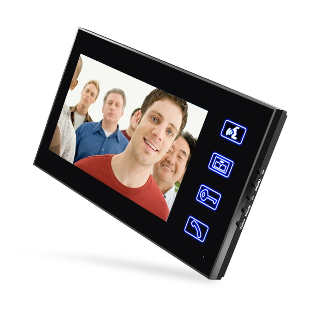 7 pouces filaire sonnette RFID mot de passe vidéo porte téléphone interphone sonnette avec caméra IR HD TV ligne système de télécommande - 3