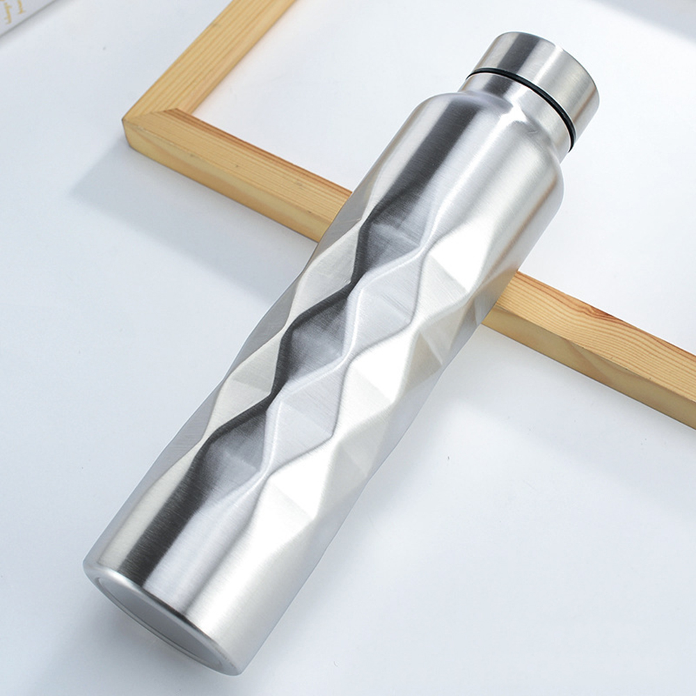 1000ml Single-wall Stainless Steel Water Bottle Gym Sport Bottles Beer Drink B
