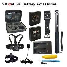 Original SJCAM SJ6 Legend Battery Accessories Selfie Stick Monopod Wrist Remote Dual Charger For SJ CAM SJ6 Legend Action Camera