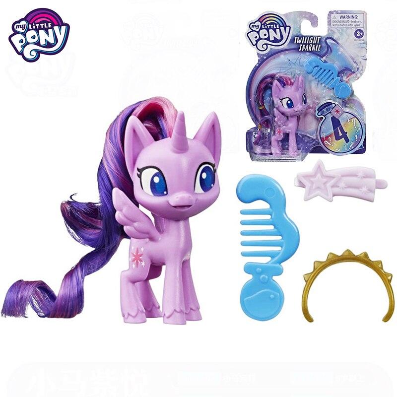 Original mon petit poney Base Potion poney poupées figurines jouets pour filles brosse à cheveux peigne Surprise accessoires enfants jouets magie