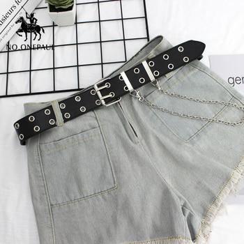 NO.ONEPAUL women belt Genuine Leather New Punk style fashion Pin Buckle jeans Decorative Belt Chain luxury brand belts for women 4