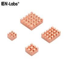 Radiador de cobre raspberry dissipador de calor, mini pc raspberry pi 4 3 2 1 modelo b a plus, processador, ram, memória lan, dissipador de calor, refrigeração