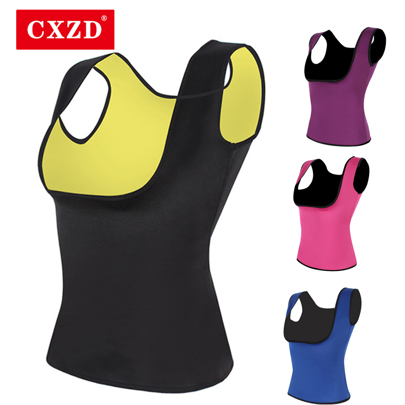 CXZD Women 2019 Plus Size Slimming Shirt Neoprene Slimming T-shirt Hot Body Vest And Blouses Abdomen Chest Weight Loss Vest