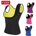 CXZD женские 2021 размера плюс для похудения рубашка неопрена для похудения футболки горячее тело жилет топы и блузки живот груди Вес потери жи...