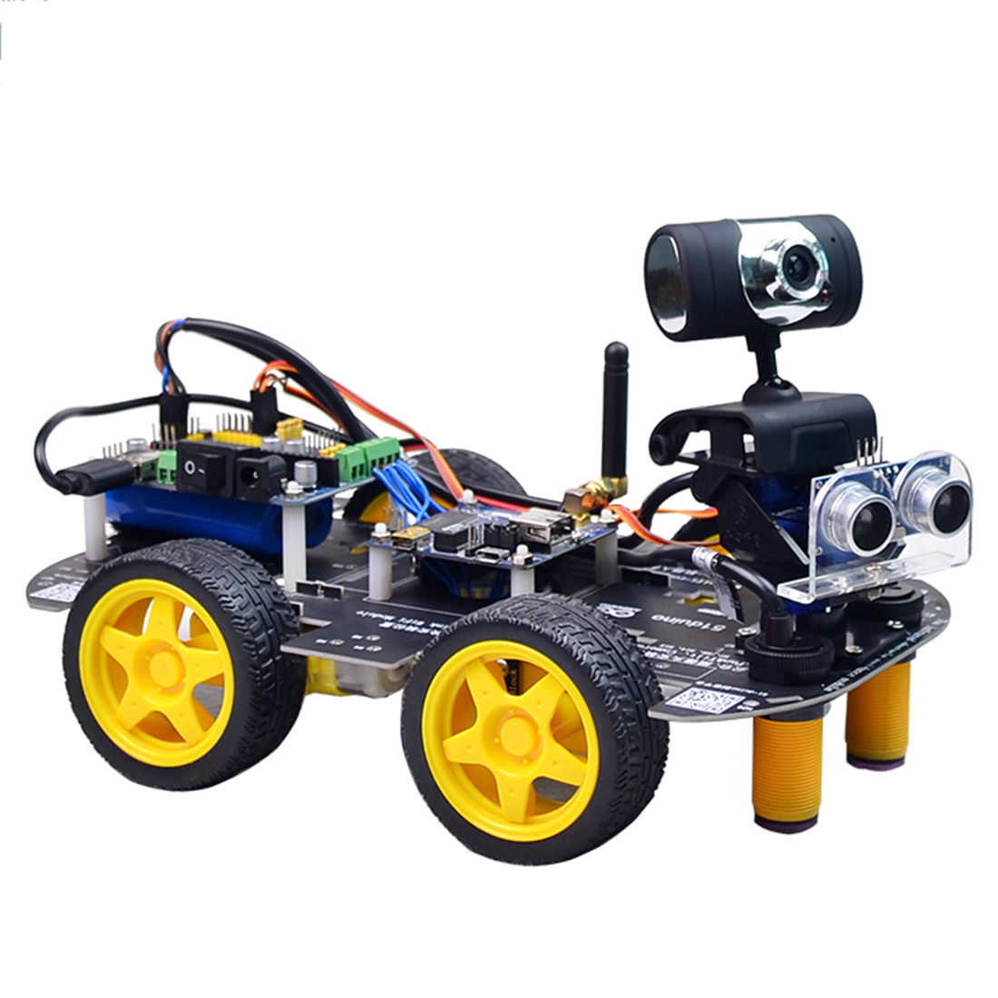 Programmable Robot DIY Wifi + Bluetooth Steam Educational Car With Graphic Programming XR BLOCK Linux For Arduino UNO R3(Line)