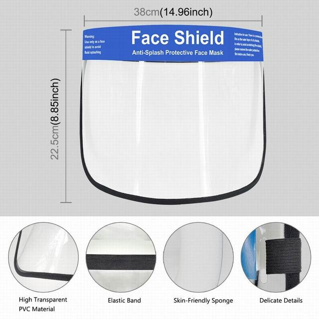 Creative Protective Face Shield Kitchen Oil-Splash Proof Mask Transparent Protection Mask Hot New 1