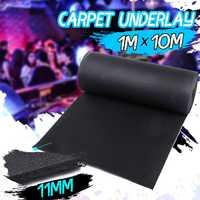 Luxury Cushion Carpet Underlay Sound Insulation Lounge Hall KTV 11mm Thick Non Slip Rug Underlay Runner Home Accessories 1x10M