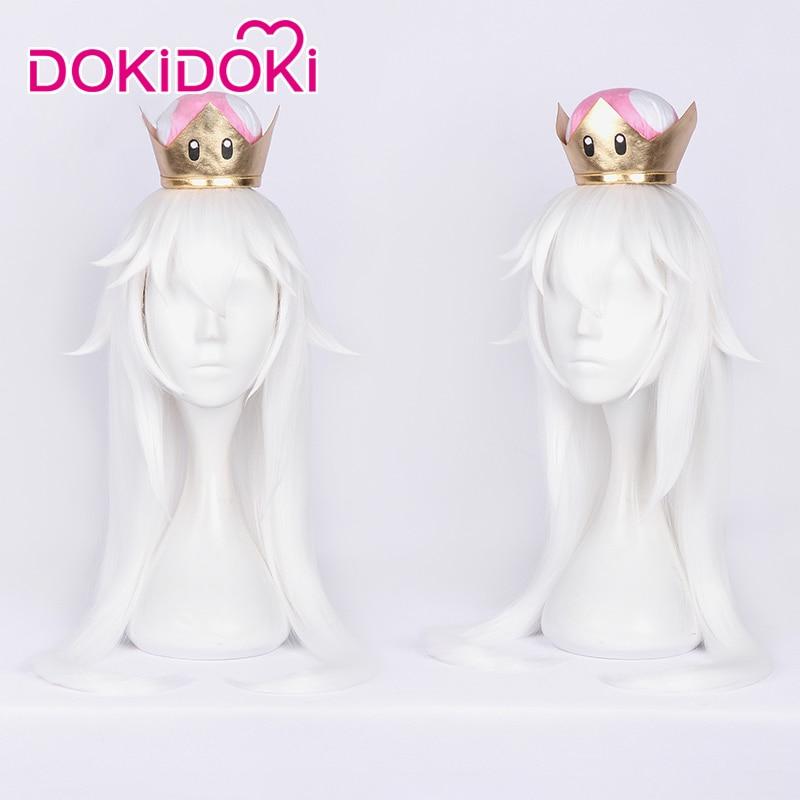 DokiDoki Game Super Mario Cosplay Kingboo Ghost Princess Costume Women White Dress Super Mario Cosplay Costume Halloween in Game Costumes from Novelty Special Use