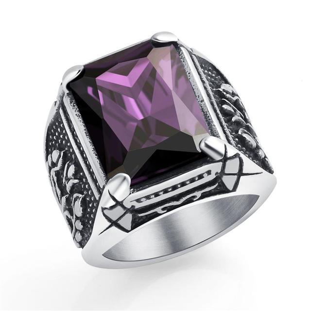 Bague dragon violet