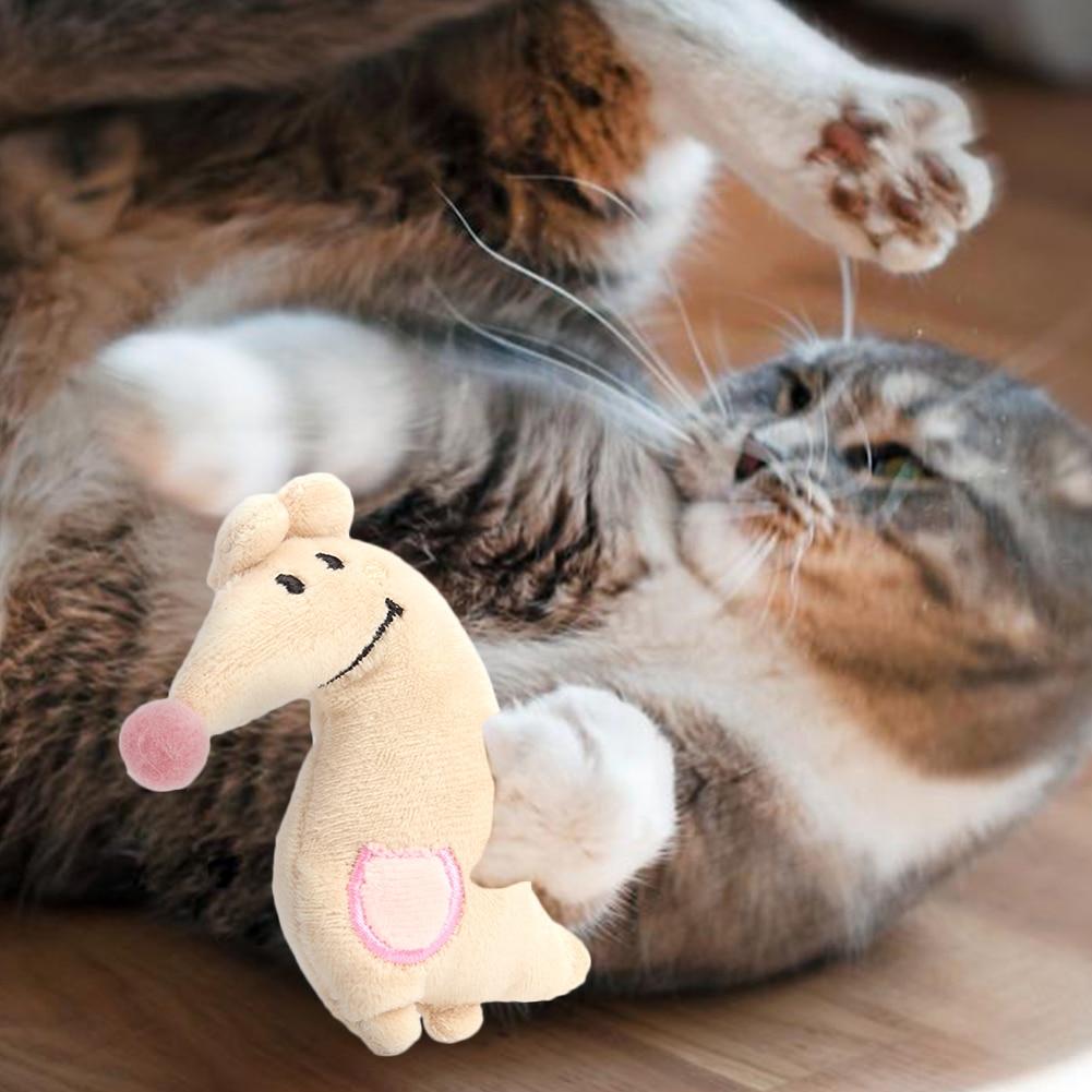 Тренинг Собаки ловкость игрушки Поставки Забавный Кот игрушка, прекрасная маленькая белая игрушка плюшевая зверушка-мята Дразнилка для котенка играть интерактивная игрушка-1