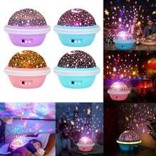 Galaxy Projector Sterrenhemel Led Nachtlampje Planetarium Kinderen Slaapkamer Star Night Lights Moon Light Kids Gift Lamp