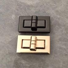 Rectangle Shape Clasp Turn Lock Twist Locks DIY Leather Handbag Bag Hardware Metal Elegant New Bag Accessories