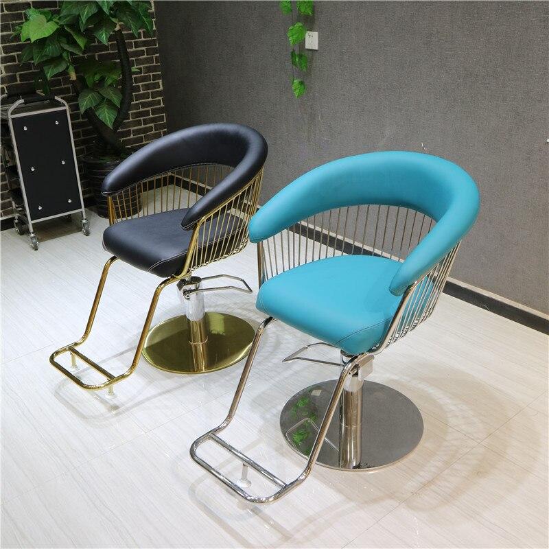 New Hot Barber Shop Chair Net Red Hair Chair Hair Salon Special Haircut Chair Lift Rotary Stool