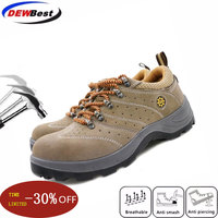 dewbest Men Steel Toe Cap Shoe 2019 Spring Leather Breathable Labor Insurance Puncture Proof Casual Boots Mens Safety Work Shoes|Safety Shoe Boots| |  -